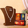 Stunning Pearl Necklace Set with Dry Fruits