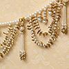 Stunning Pearls and Golden LeavesDoor Hanging Toran