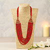 Stunning Red String Necklace