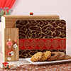Stylish Bhaiya Bhabhi Rakhi with Assorted Dryfruit Butter Cookies