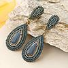 Stylish Blue Beads Earrings