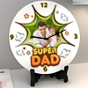 Super Dad Personalized Round Shaped Clock