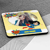 Super Girl Personalized Birthday Square Coasters (Set of 4)
