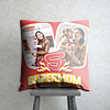 Super Mom Personalized Red Cushion