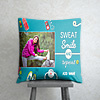 Sweat Smile and Repeat Personalized Birthday Cushion