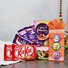 Tempting Chocolicious Treat with 3 Kids Rakhi