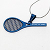 Tennis Racket Personalized Pendant