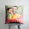 Thank - You Father Personalized Red Cushion