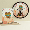 Thank-You Mom Personalized Clock and Card Combo