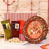 Tikka Thali, Kaju Barfi, 2 Chocolates in a Gift Box