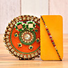 Traditional Beads Work Rakhi With Decorated Thali