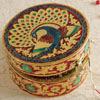 Traditional Circular Jewellery Box with Meenakari