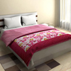 Traditional Cotton Double Bed Quilt in Pink