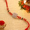 Traditional Metallic Swastik Rakhi