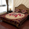 Traditional Print Cotton Bed Cover