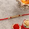 Traditional Rudraksh & Stone Studded Rakhi