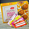 Traditional Set of Four Rakhi with Besan Laddoo
