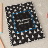 Triangle Print Personalized Notebook
