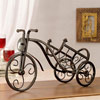 Tricycle Shaped Well Crafted Metal Wine Bottle Holder