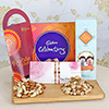 Two Beautiful Rakhis With Cadbury Celebrations & 400g Dryruits