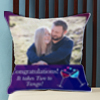 Two to Tango Personalized Wedding Cushion