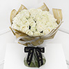 Unforgettable 50 White Roses Hand Tied