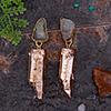Unique Uncut Stone Earrings
