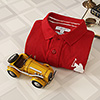 US Polo Red Tshirt with Yellow Vintage Car