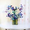 Vase Arrangement of 6 Blue Orchids