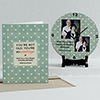 Vintage Not Old Personalized Birthday Clock & Card Combo
