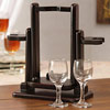 Well Designed Wine Glass and Bottle Holder
