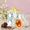 White container with Chocolates & Tikka
