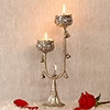 White Metal Decorative Traditional Candle Stand