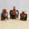 Wooden painted Eagles family Set