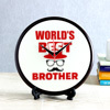 World's Best Brother Round Shaped Clock