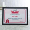 World's Best Mom Personalized Certificate