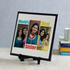 World's Best Sister Personalized Square Shaped Clock