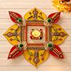 Yellow & Red Beautiful Rangoli
