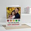 You Color My World Personalized Anniversary Greeting Card