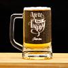 You Make Me Happy Personalized Beer Mug