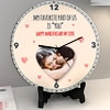 You're my favorite part of us Personalized Anniversary Clock