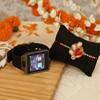Zardozi Work Bhaiya Rakhi and Smart Watch