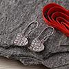 Zircon Studded Alluring Heart Earpiece