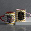 Zizag Personalized Anniversary Mug Set for Husband