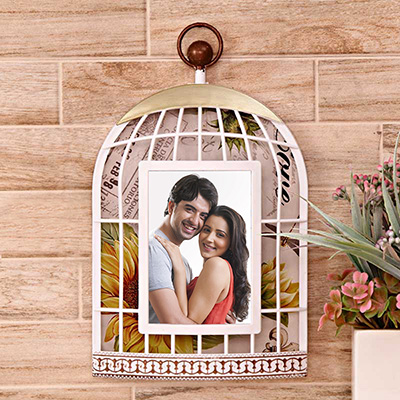 Bird Cage Personalized Photo Frame: Gift/Send Home and Living Gifts ...